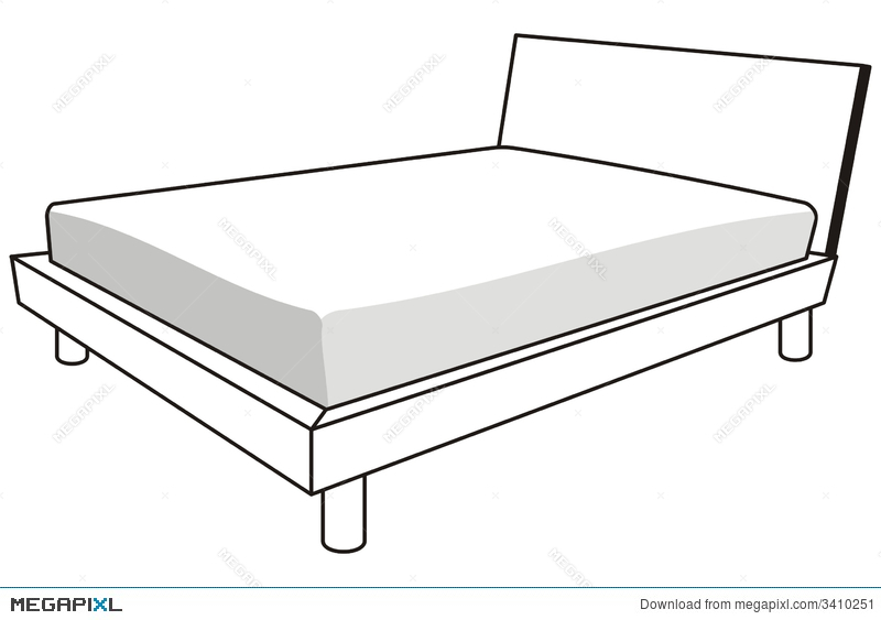 Illustration megapixl. Bed clipart rectangle