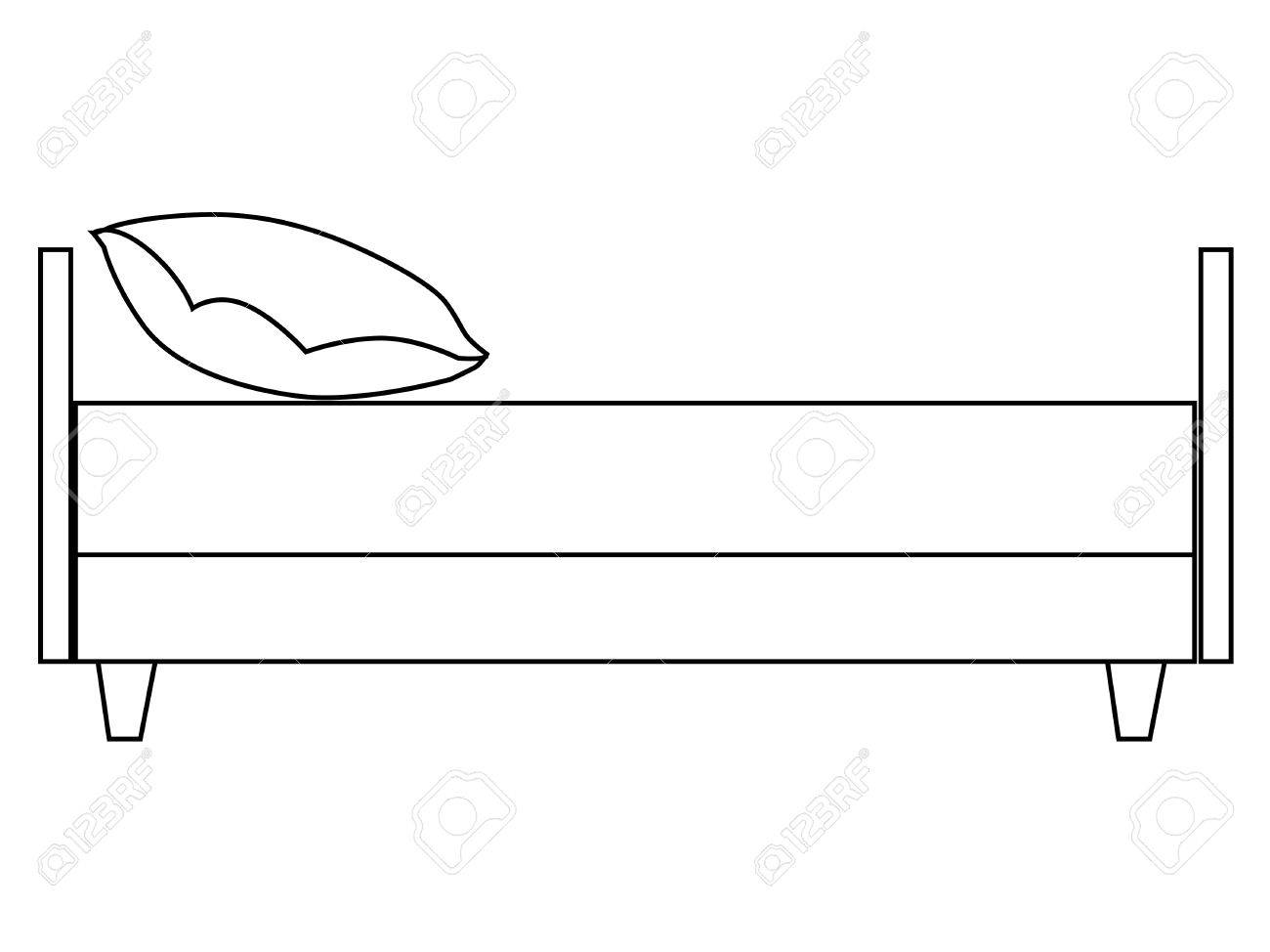 Bed clipart side view.  collection of drawing