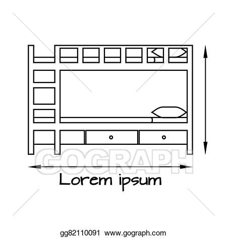 Bed clipart side view. Vector art flat illustration