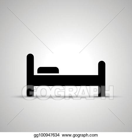 Eps vector side view. Bed clipart silhouette
