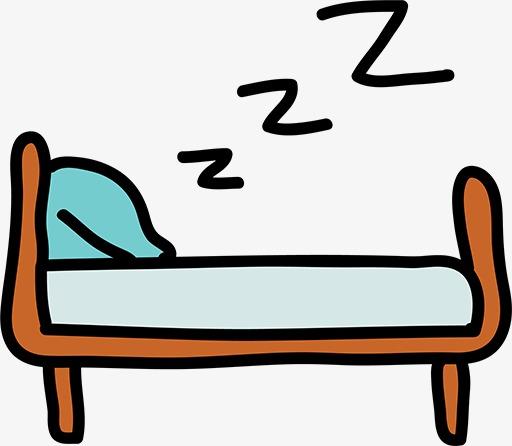 Stick figure cartoon blue. Bed clipart silhouette