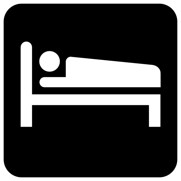 Bed clipart silhouette. At getdrawings com free