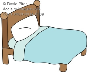 Illustration of a . Bed clipart simple