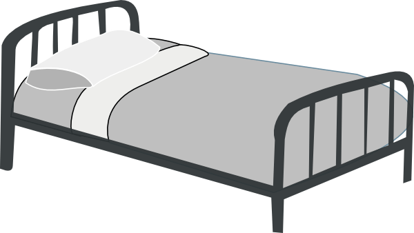 Pillow simple bed clip. Furniture clipart bedroom thing