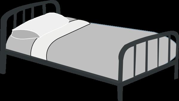 Bed clipart simple. Pillow clip art artsimple
