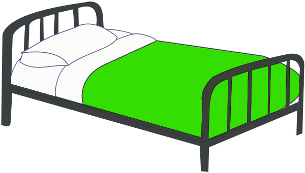 . Bed clipart single