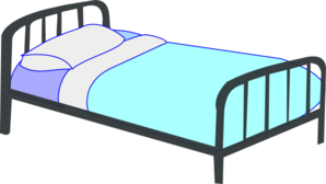 Clip art at clker. Bed clipart single