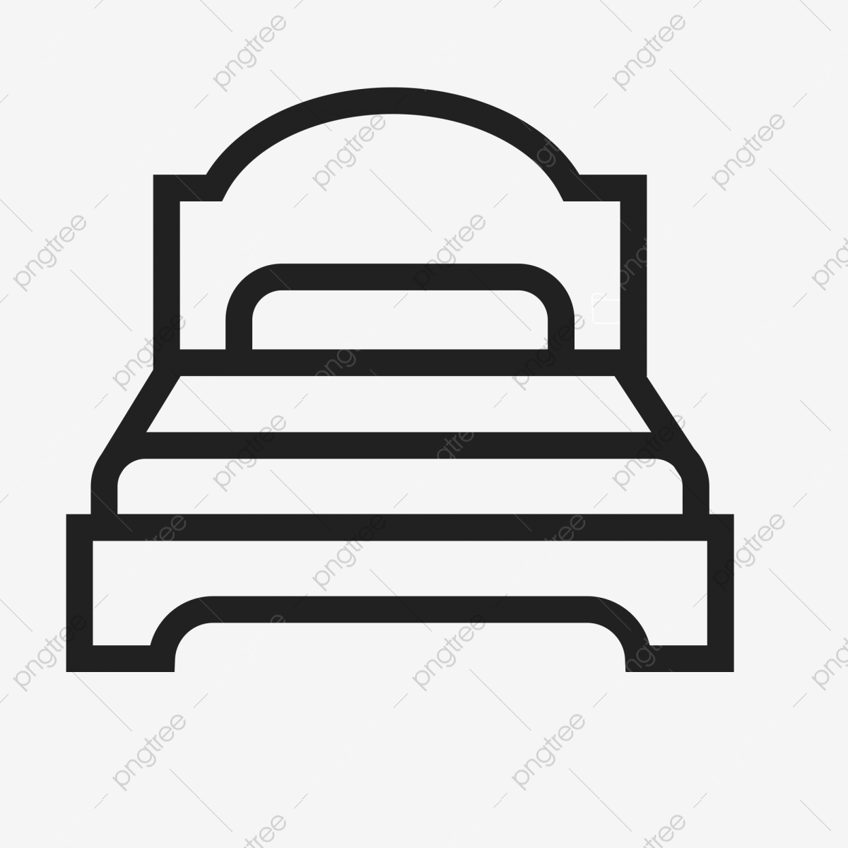 Bed clipart single. Flat ui icon png