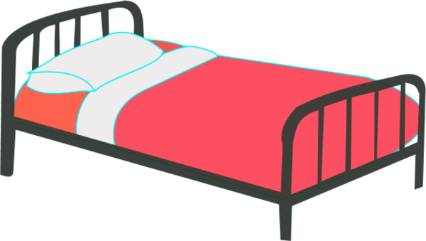 Bed clipart single. Clip art library