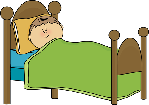 Bed clipart sleeping. Of child s clip
