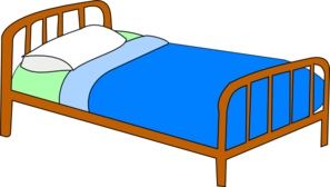 Clipart bed. Colored clip art at