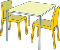 Free clip art pictures. Furniture clipart table chair