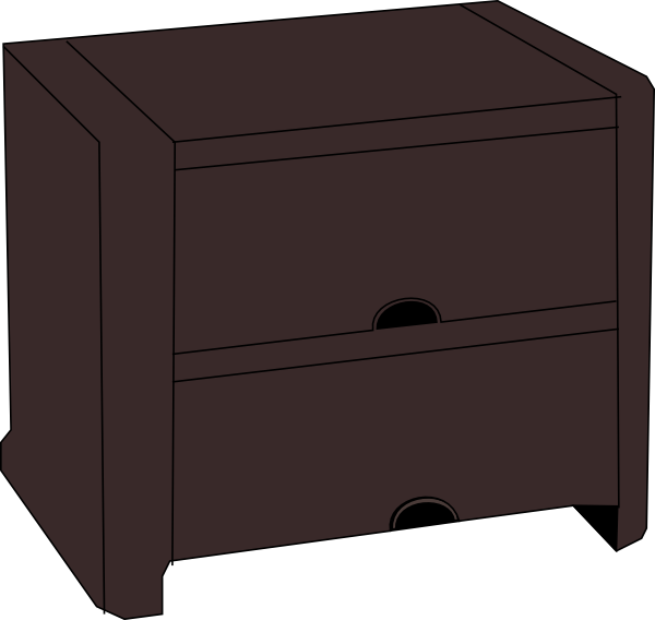 Table clip art at. Furniture clipart night stand