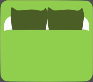 Clip art at clker. Bed clipart top view
