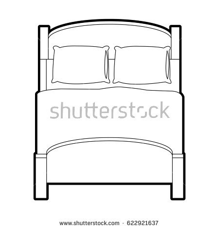 Bed clipart top view.  collection of drawing