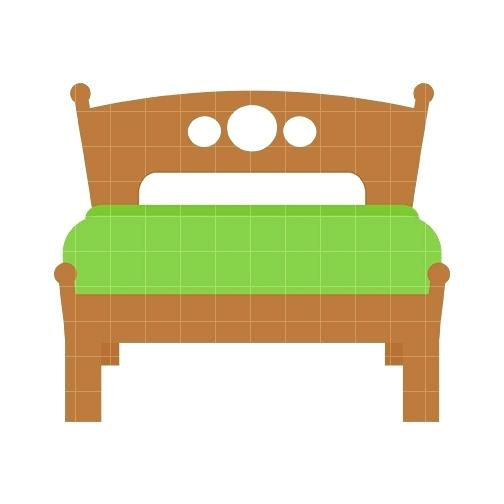 Bed clipart top view. Black and white images