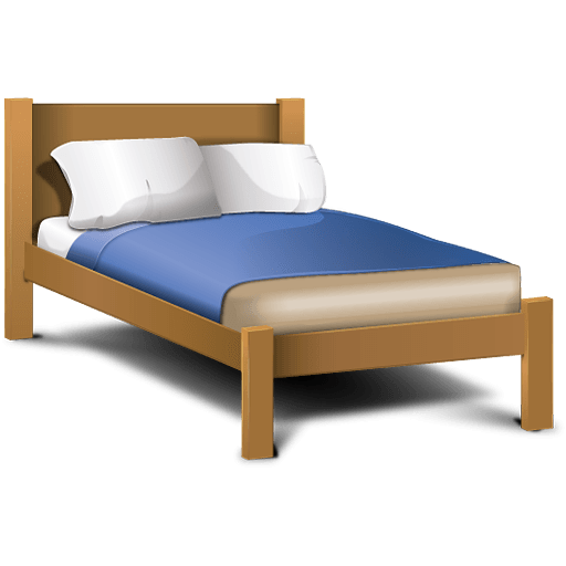 Classic cartoon png stickpng. Bed clipart transparent background