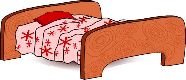 Free clip art image. Bed clipart twin bed