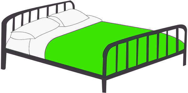 Bed clipart twin bed. Png affashion co double