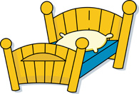 Search results for clip. Bed clipart twin bed