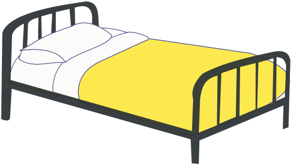 Free picture of. Bed clipart twin bed