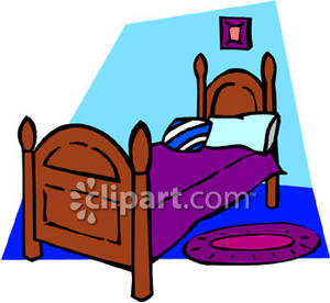With a wood frame. Bed clipart twin bed
