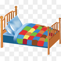 Bed clipart vector. Double png vectors psd
