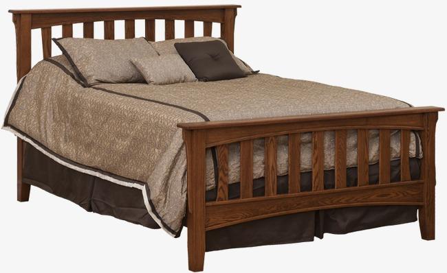 bedroom clipart wooden bed