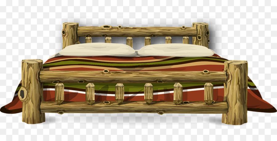 Wood frame furniture transparent. Clipart bed wooden bed