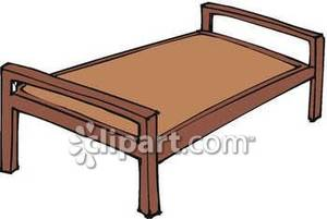 Clipart bed wooden bed. A frame royalty free