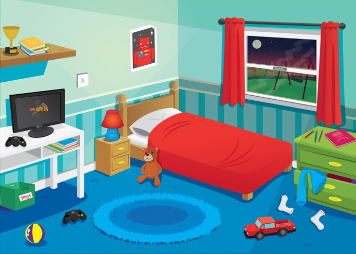 Clipground kids room. Bedroom clipart
