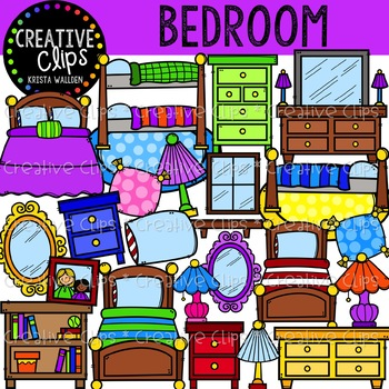 Bedroom clipart. Creative clips by krista
