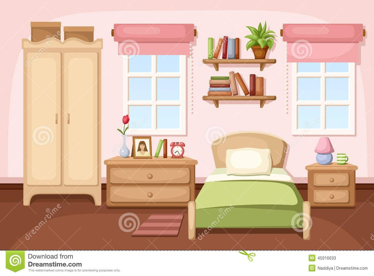 Bedroom clipart. For mia s playhouse