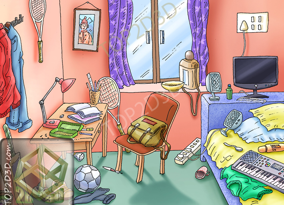 Bedroom clipart animation, Bedroom animation Transparent ...