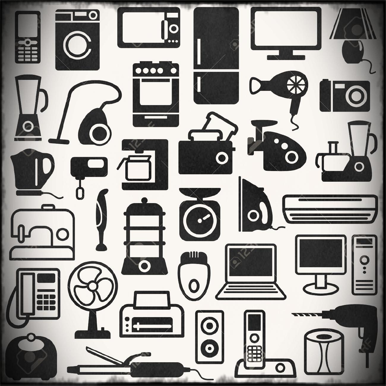 Household appliances clip art. Bedroom clipart appliance