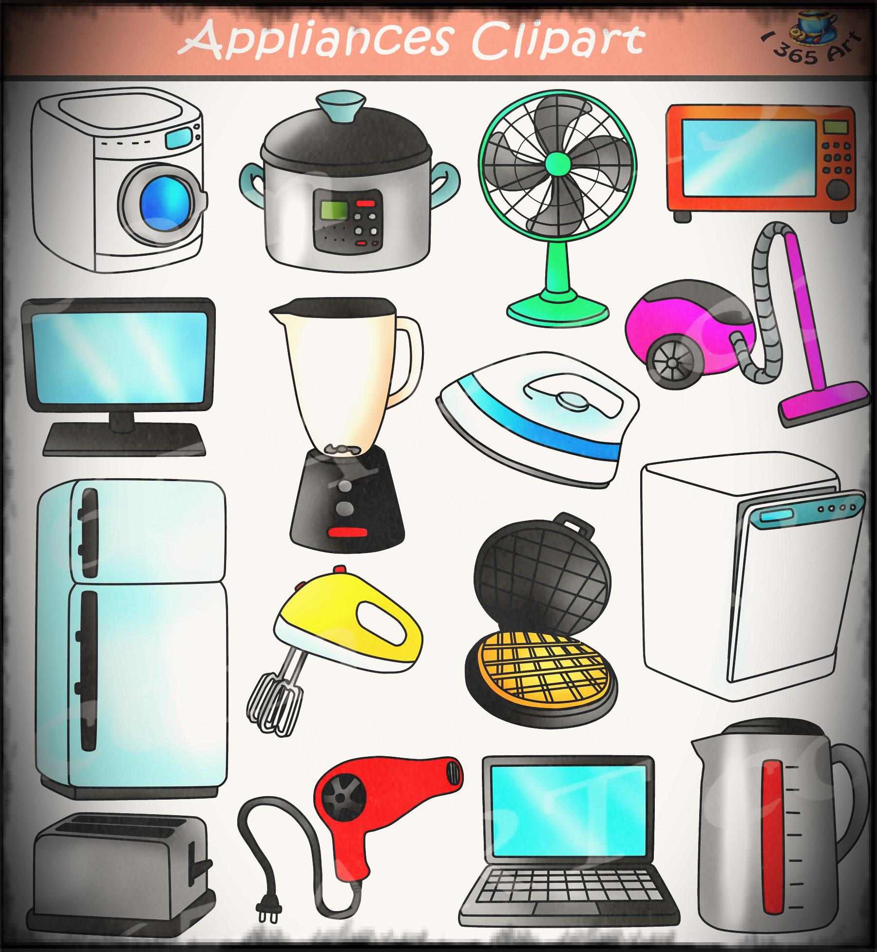 Bedroom clipart appliance. Appliances electrical devices school
