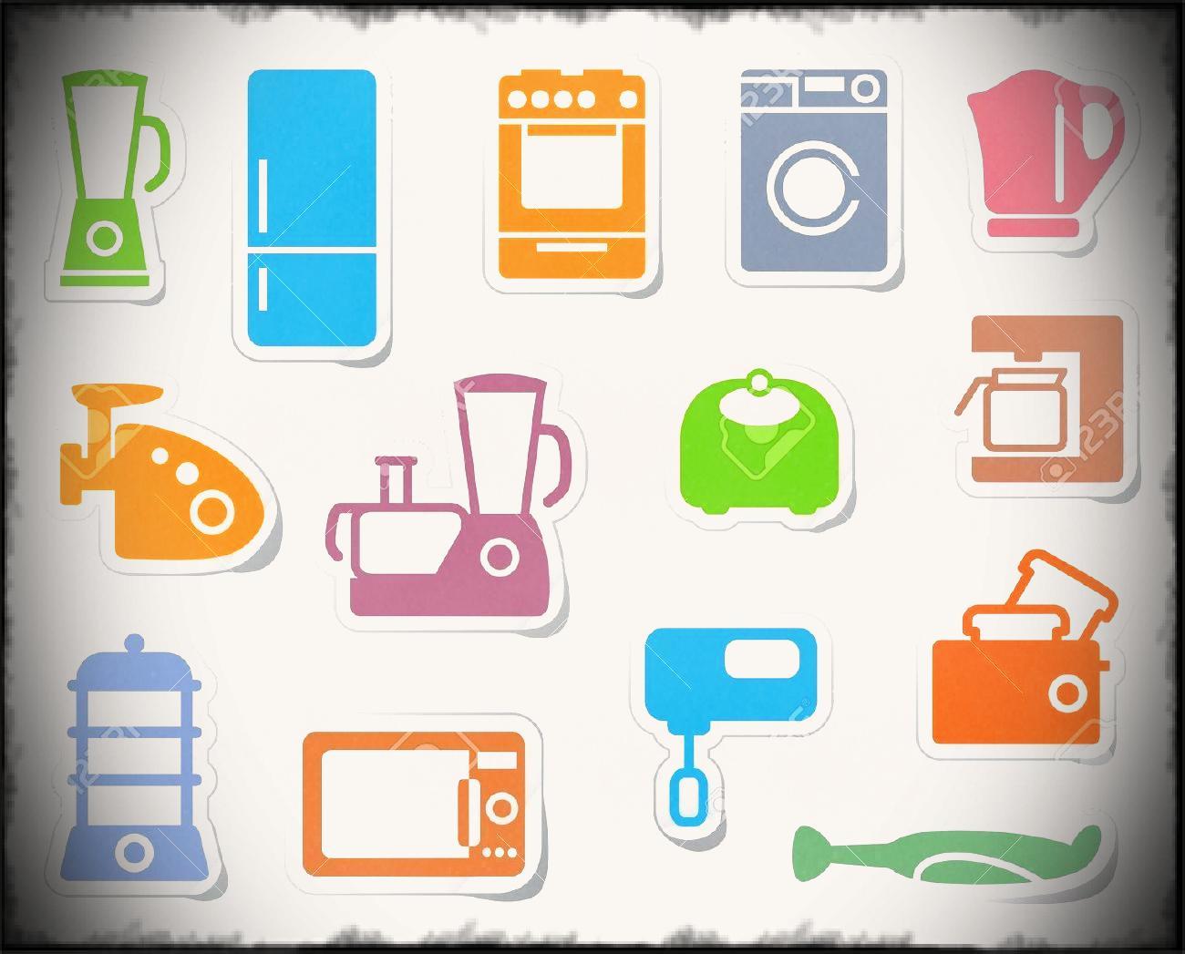 Household appliances kitchen clip. Bedroom clipart appliance