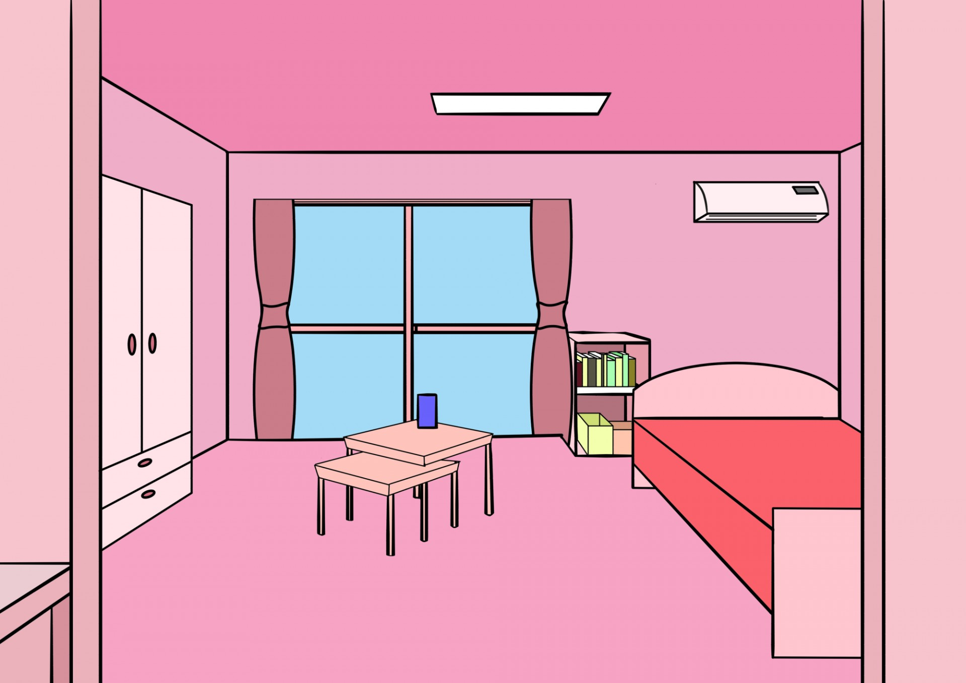 Bedroom clipart background. Room free stock photo