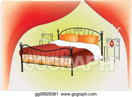 Bedroom clipart bedroom design. Eps vector interior stock