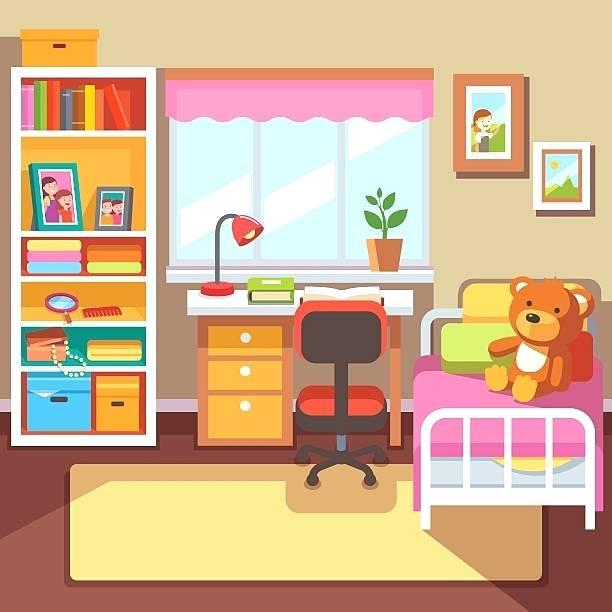 Bedroom clipart bedroom design. Child images pictures storage