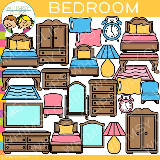 Furniture clipart bedroom furniture. Clip art