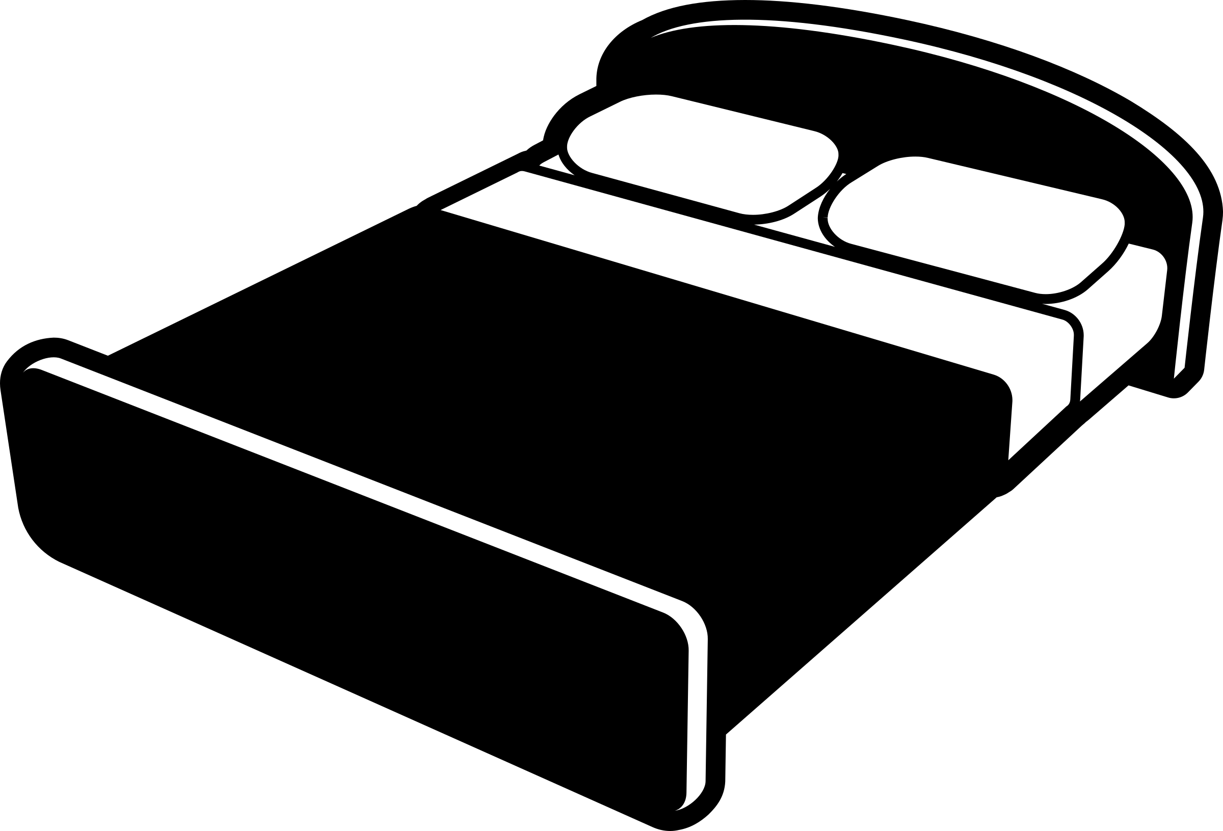 Bed black and white. Bedroom clipart bedrrom
