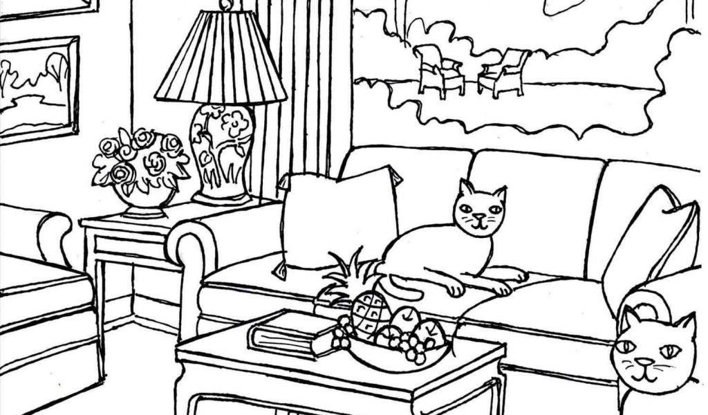 The images collection of. Bedroom clipart black and white