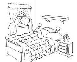 Bedroom clipart black and white.