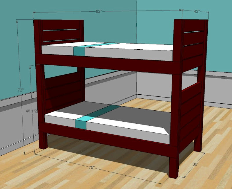 Ana white side street. Bedroom clipart bunk bed