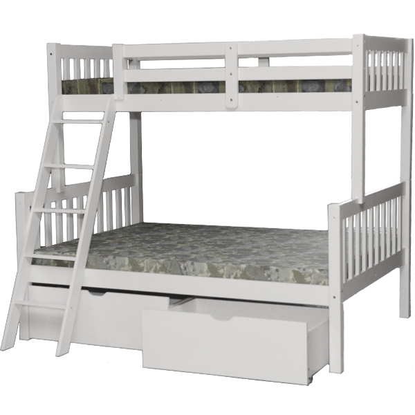 Bedroom clipart bunk bed. Verona white twin full