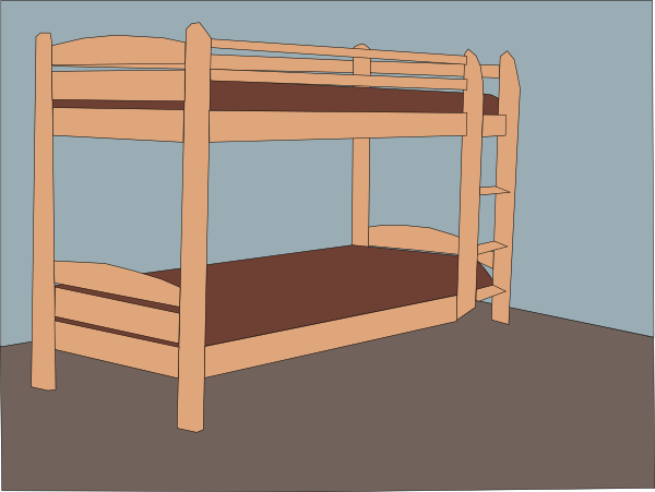 Bed clipart double bed. Cartoon bunk beds affashion
