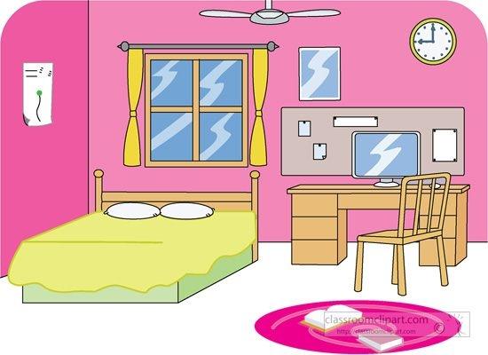 Bedroom clipart cartoon. Home design panda free