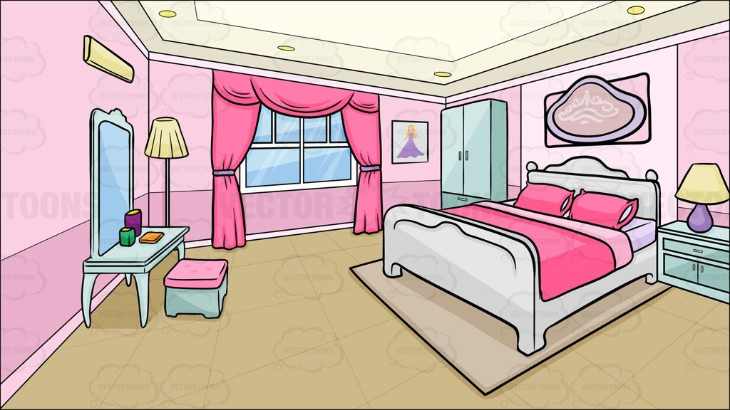 Bed clipart animated. Cartoon bedroom cliparts free