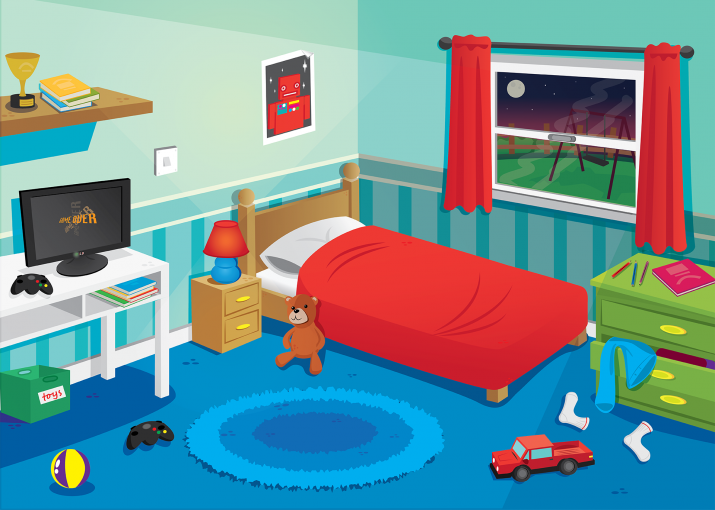 bedroom clipart cartoon